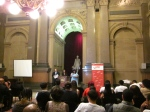 The graduation was celebrated in the beautiful Conversation Room at City Hall.