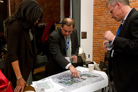 LISC's Andy Frishkoff and Tina Brooks participated in the charrette as advisors. Photo by Dominic Mercier